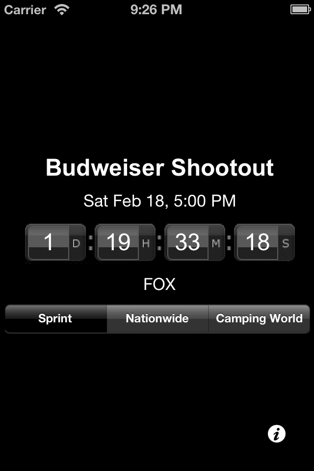 NASCAR Countdown for iPhone